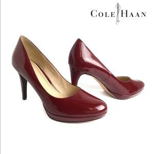 Cole Haan Women Red Patent NikeAir Pump Heels